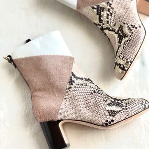 NWT Cole Haan Snake/Pony Boots